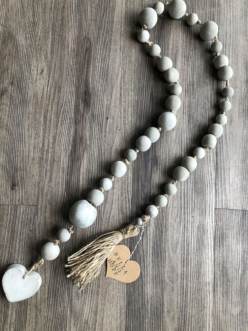 Handmade Cement Blessing Beads